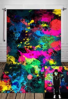 Fanghui 7x5FT Glow Neon Graffiti Photography Backdrop Glow Party Background Banner Graffiti Painting Photo Booth Props Supplies