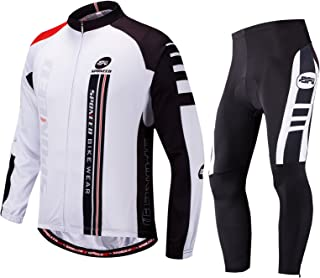Cycling Clothes for Men Long Sleeve Mountain Bike Road Bicycle Shirt Jeresys Pants Padded Bike Jakcet Outfit