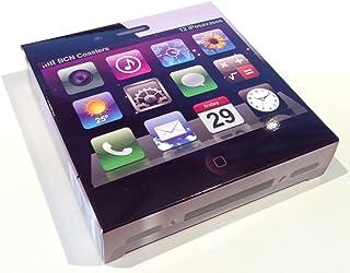 Posavasos iOS. Estuche con 12 Posavasos Impresos a Color, Cuadrados, absorbentes y Extra Gruesos. Tamaño 9 x 9 cm