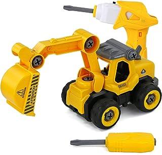 yoptote Ensamblarde Vehículo Excavadora para Niños Coche Juguetes Vehículos De Construcción Grandes Tractor Juguete Coches...