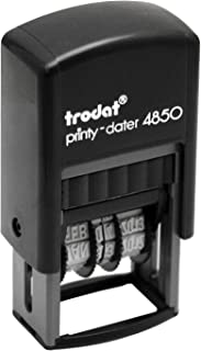 Trodat Printy Economy Self-Inking 5-in-1 Micro Message Date Stamp, Approved, Copy, Entered, Scanned with Date, Impression: 1