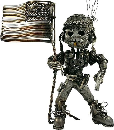 discount Cool Skeleton Soldiers outlet sale Statue - Skeleton Machine Guns Soldiers Machine Gunner Model Ornaments for Home Office Desktop Decoration outlet sale (Style A) outlet online sale