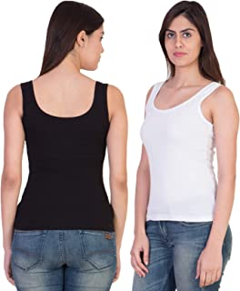 17Hills® Pack of 2 Tank Top Vest Top Camisole Sando Spaghetti Inner Wear Camis for Women, Girls