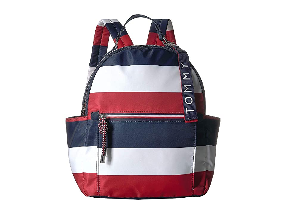 Tommy Hilfiger Lani Backpack Corporate Stripe (Navy/Natural) Backpack Bags
