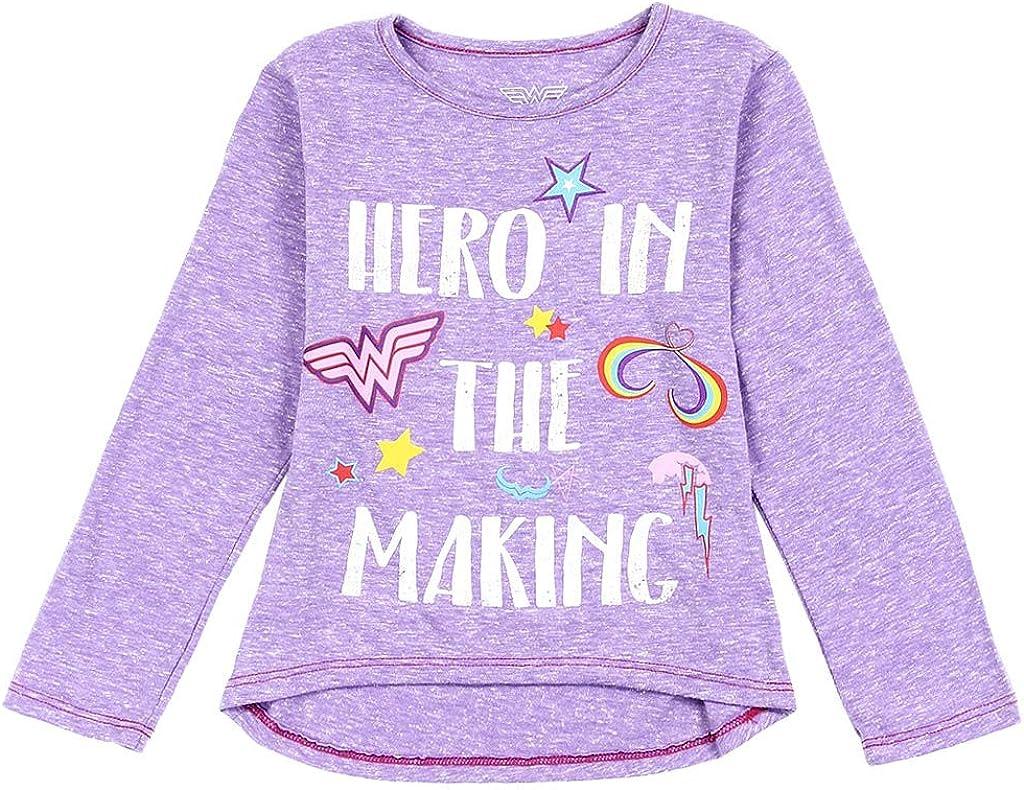 Wonder Woman Cheap bargain DC Austin Mall Comics Little Sleeve Tee Girls' Long Toddler