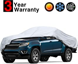 KAKIT Car Cover, 6 Layers Truck Outdoor Cover Windproof Waterproof Scratch Resistant Dustproof for All Weather, Full Car Cover Fits Up to 224