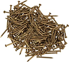 200 Pcs Antique Round Head Brass Copper Screw Nail Miniature Nails for Furniture Hinges Boxes Craft Projects 2.8x18mm