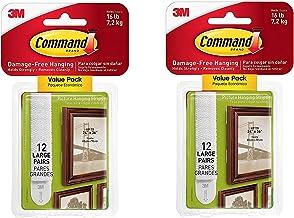 Command 17206-12ES CMD LG PICT Hang Strip, 12 paren, Wit, Afbeelding