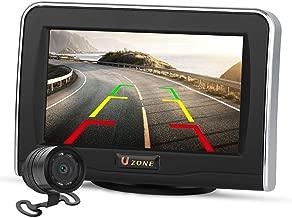 Backup Camera and Monitor Kit for Car, Uzone 4.3'' LCD Monitor & IP67 Waterproof CMOS Rear View Camera, Backup Camera System Kit for Truck, Camping Car, Van, SUV, RV