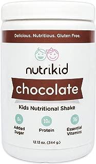 Kids Protein Shake - Nutritional Chocolate Superfood Powder With Essential Vitamins, Fiber & Digestive Enzymes - Toddler Nutrition Drink - Boost Growth, Bone Health & Brain Development - 12.13oz