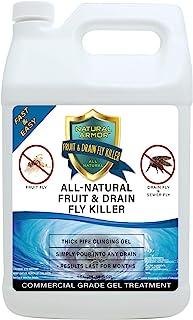 Fruit Fly & Drain Fly Killer - Simple Commercial Drain Gel Treatment – Eliminates Gross Fruit Flies, Drain Flies, Sewer Fl...