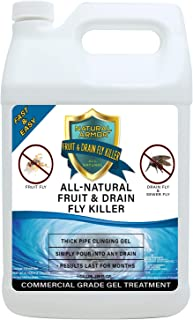 Fruit Fly & Drain Fly Killer - Simple & Safe Commercial Drain Gel Treatment – Eliminates Gross Fruit Flies, Drain Flies, Sewer Flies & Gnat Infestations From Any Drain. Fast & Easy (128 OZ GALLON)