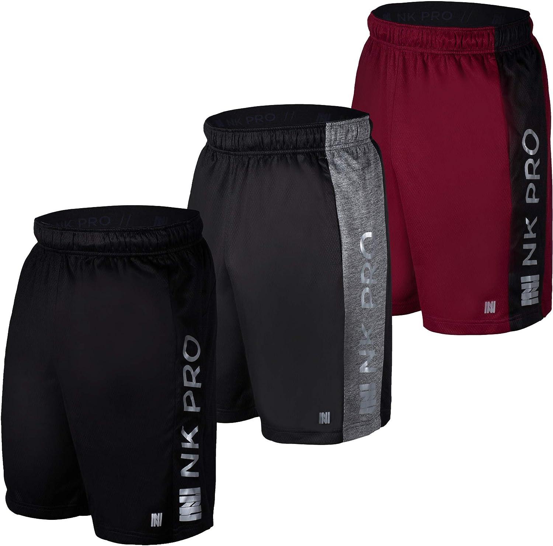Gym Running Mens Mesh Shorts for Basketball NK Pro 3PK Mens Athletic Shorts