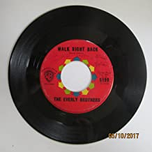 THE EVERLY BROTHERS 45 RPM Walk Right Back / Ebony Eyes