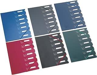 Extendos 归档盒 文件分配文件夹由 PP 和纸板制成,7 层,绿色,12 件
