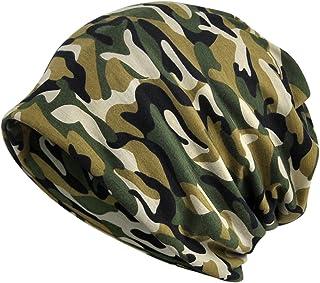 KUYOU Women's Multifunction Camouflage Hat Skull Cap Scarf