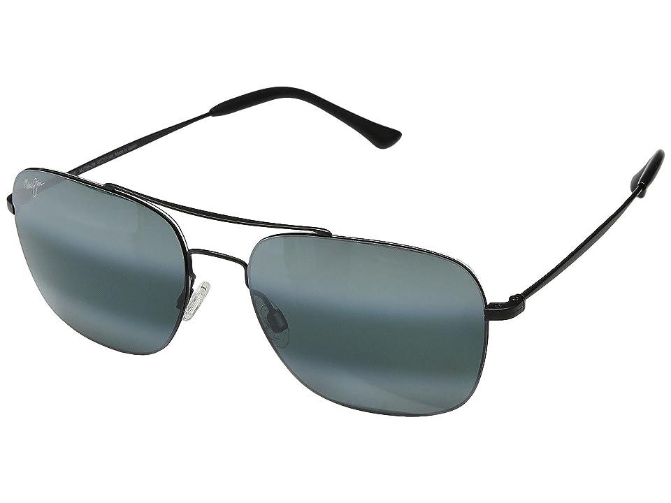 Maui Jim Lava Tube (Matte Black/Neutral Grey) Athletic Performance Sport Sunglasses
