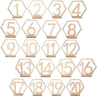 comprar comparacion BESTOYARD Números de Madera para Mesas Decoración Bodas Vintage 1-20