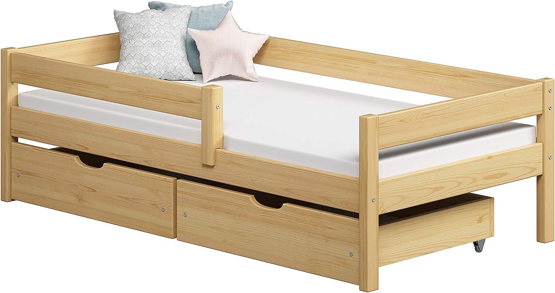 Childrens Beds Home Camas Individuales para niños Niños Niños pequeños con cajones Sin colchón Incluido (200x90, Blanco)