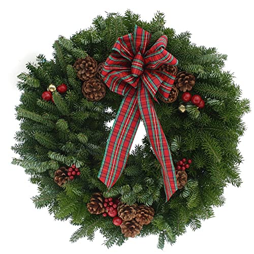 Fresh Christmas Wreaths.Fresh Christmas Wreaths For Front Door Amazon Com