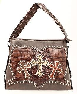 Blazin Roxx Women's Embroidered Crosses Shoulder Bag - N7527802