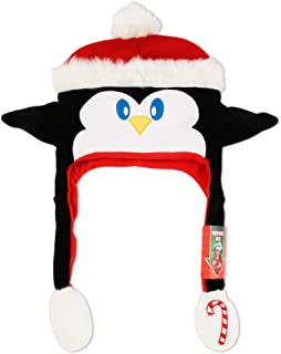 ABG Accessories Girls' Little Ugly Christmas Penguin 'Squeeze and Flap' Fun Hat, multi/color, Age 4-7