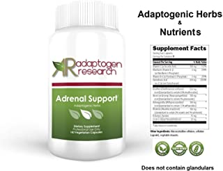 Adrenal Support Formula | Adaptogenic Herbs & Nutrients with Licorice | Cortisol Manager | 180 Vegetarian Capsules | Adaptogen Research