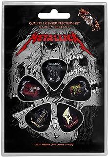 Metallica Plectrum Pack Guitars Band Logo Official 5 Pack Guitar Picks One Size