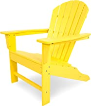 POLYWOOD Outdoor Furniture South Beach Adirondack Chair, Lemon-Recycled Plastic Materials