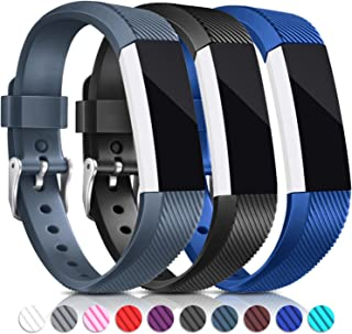 for Fitbit Alta HR and Alta Bands, Hotodeal Soft Accessory Replacement Strap Wristbands with Metal Buckle Clasp for Fitbit Alta/Alta HR Smart Fitness Tracker, Small&Large