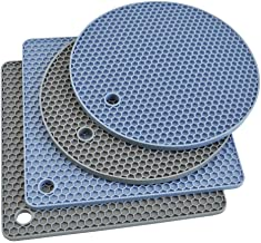 Silicone Trivet Mats, Silicone Pot Holders for Hot Pan and Pot Pads. Heat Resistant Counter Mats for Tables, Countertops, ...
