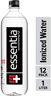 Essentia Water; 12, 1-Liter Bottles; Ionized Alkaline Bottled Water; Electrolytes for Taste; Better Rehydration; pH 9.5 or Higher; Pure Drinking Water; For the Doers, the Believers, the Overachievers