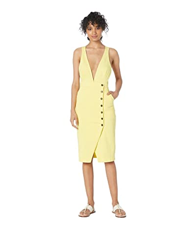 ASTR the Label Andi Dress (Lemon Drop Yellow) Women