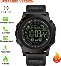 Upgraded T3 Electronic Fitness Tracker Digital Sports Bluetooth Smart Watch Waterproof Pedometer Remote Camera Incoming Call or Message Notification Reminder for iOS Android Smartwatch Men (Black)