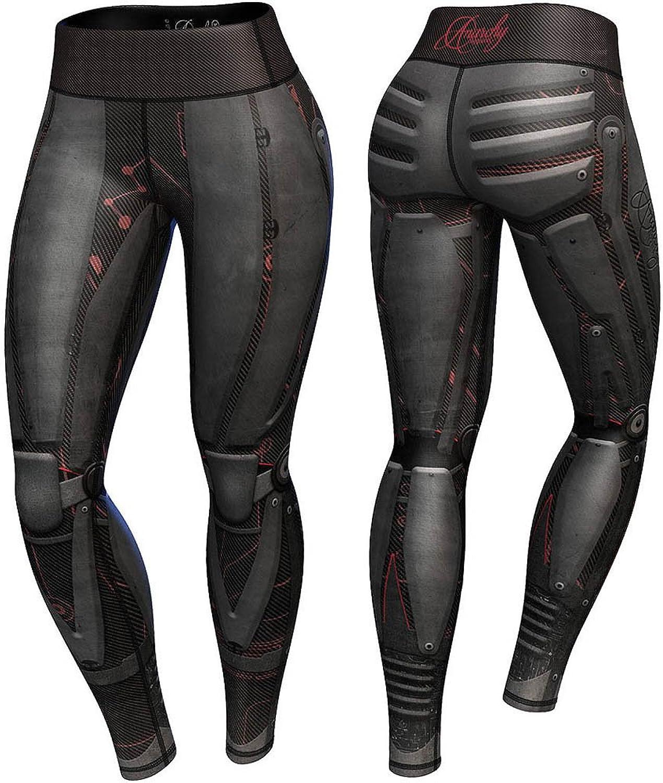 Anarchy Apparel Compression Leggings, Dark Robota, Fitness, Hosen, Pants, Aerobic