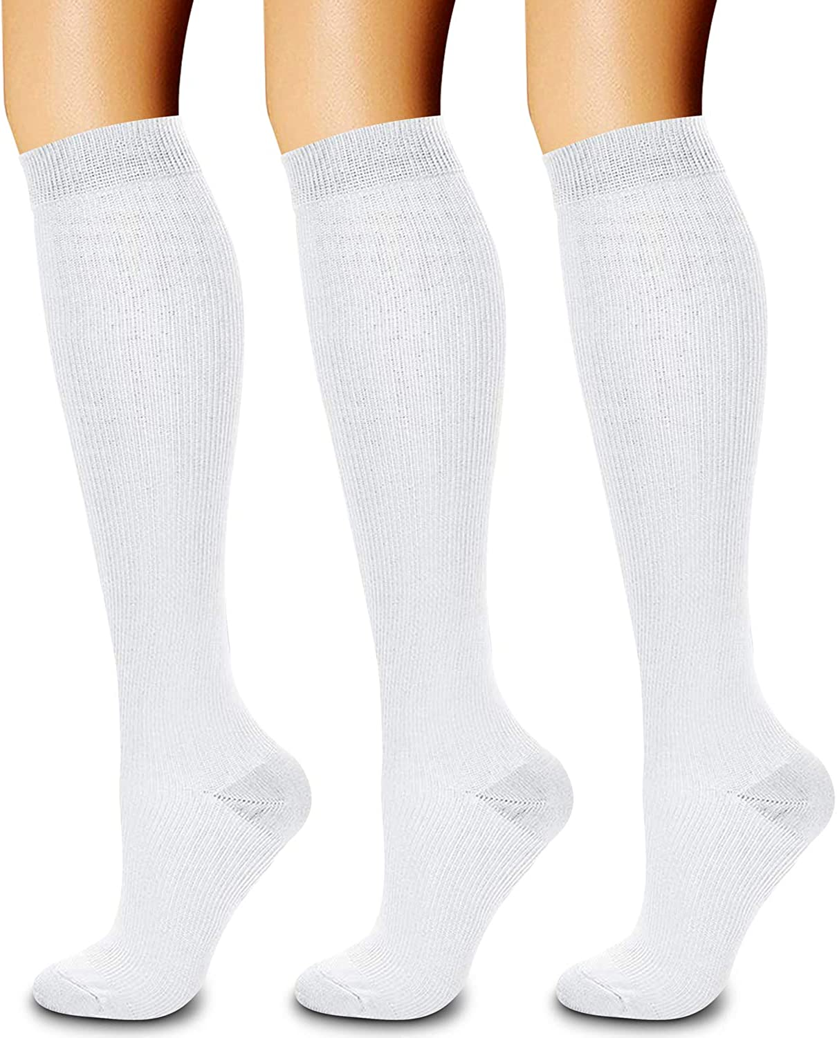 CHARMKING Compression Socks for Women & Men Circulation (3 Pairs)15-20 mmHg is Best Support for Athletic Running Cycling: Clothing