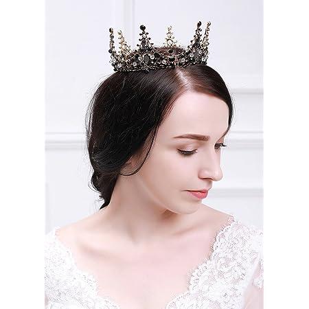 Black gold crystal crown,Baroque headband Black bridal crown,Bridesmaid crown,Black gold bridal tiara,Crystal tiara Dolce headband