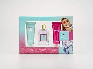 Farala - #Behappy Estuche de Regalo para Mujer Eau de Toilette 100 ml Gel de Baño 75 ml y Body Lotion 75 ml