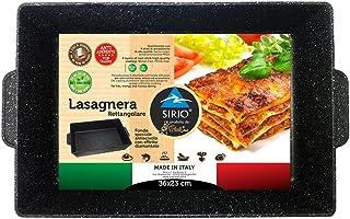Sirio lsrtnr Plat à Lasagne rectangulaire, Fonte d'aluminium, Noir