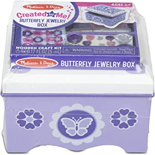 Melissa & Doug Created by Me! Purple Wooden Butterfly Jewelry Box Craft Kit (, Great Gift for Girls and Boys – Best for 4, 5, 6, 7 and 8 Year Olds)