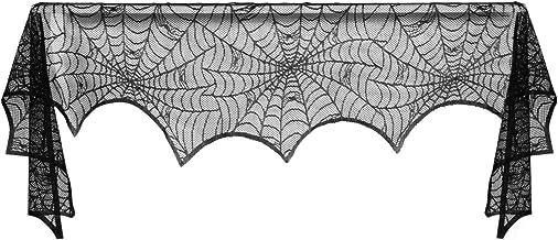 BESPORTBLE Capa para lareira teia de aranha para decoração de Halloween 240 45 cm