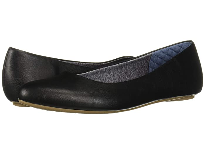 Dr. Scholls  Really (Black Smooth) Womens Flat Shoes