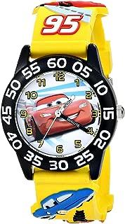 Boys' Cars 3D Plastic Yellow Time Teacher Watch