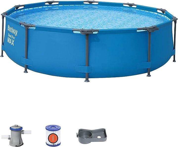 Piscina da giardino bestway piscina steel pro max cm. 305x76 fuoriterra, colore 1056408XXX20
