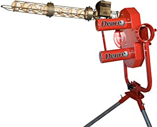 HEATER SPORTS Deuce 75 MPH Two Wheel Baseball Pitching Machine for Kids, Teens, Adults, and Teams, Uses Pitching Machine Baseballs & Real Baseballs, Includes Automatic Ballfeeder