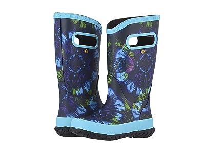 Bogs Kids Rain Boots Tie-Dye (Toddler/Little Kid/Big Kid) (Electric Blue Multi) Kids Shoes