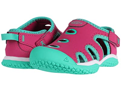 Keen Kids Stingray (Toddler) (Very Berry/Peacock Green) Girl