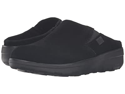 FitFlop Loaff Suede Clogs (Black Suede) Women
