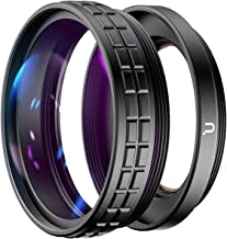 ULANZI WL-1 Wide Angle Lens for Sony ZV1 Camera Vlogger, 18mm Wide Angle / 10X Macro 2-in-1 Additional Lens for Sony ZV1/RX100 VII Camera