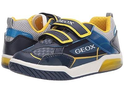 Geox Kids Inek 8 (Little Kid/Big Kid) (Navy/Yellow) Boy
